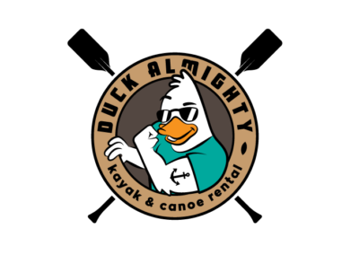 Logo design for Duck Almighty Kayak and Canoe Rental in Columbia, Tennessee